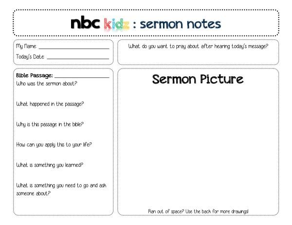 Sermon Notes A